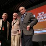 Con Paco Puche y Alfonso Guerra. Congreso de Libreros de Sevilla 2018