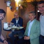 con Muñoz Rengel,  Pérez Zuñiga y E. Calabuiga